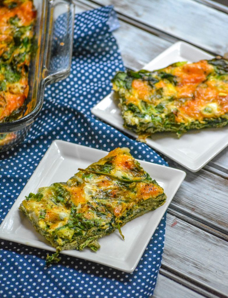 Spinach And Cheddar Egg Bake