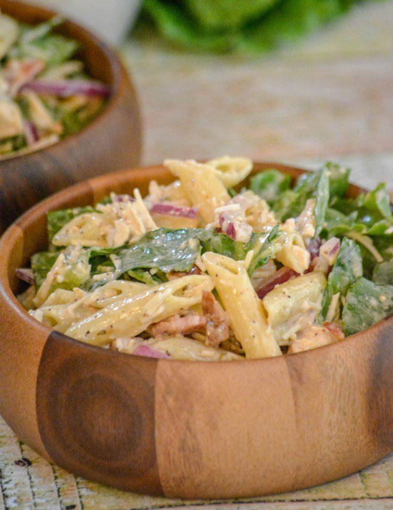 Chicken Caesar Pasta Salad from 4sonrus.com