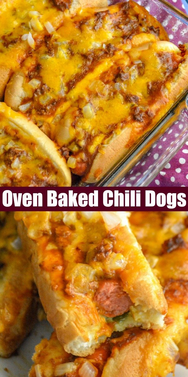For the best chili cheese dogs around, all you need is this easy Oven Baked Hot Dogs recipe. Loaded with chili, chopped onion, and melted cheddar, they're crispy on the outside but soft and savory dogs tucked into fluffy buns. Lunch, dinner, pot lucks, even on Game Day- these are perfect for almost any occasion.
