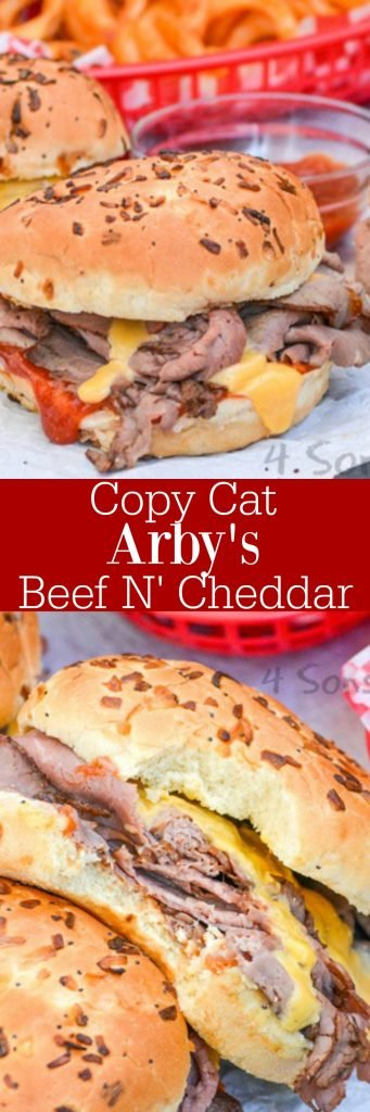 copycat Arby's beef and cheddar pin-able image collage