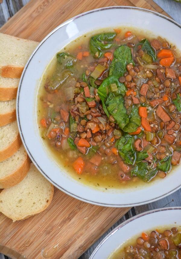 Healthy Ham & Lentil Soup