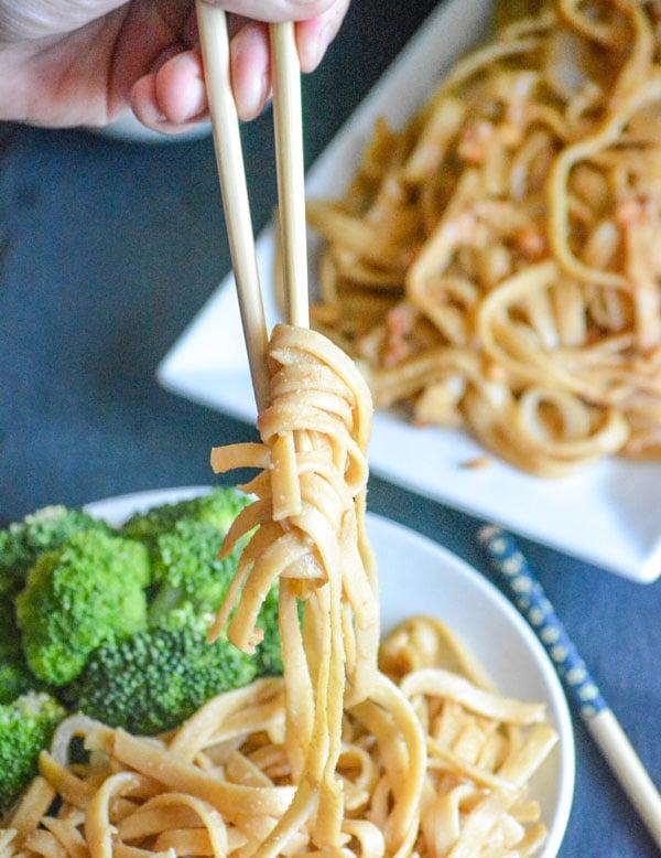 Peanut Butter 'Lo Mein' Noodles