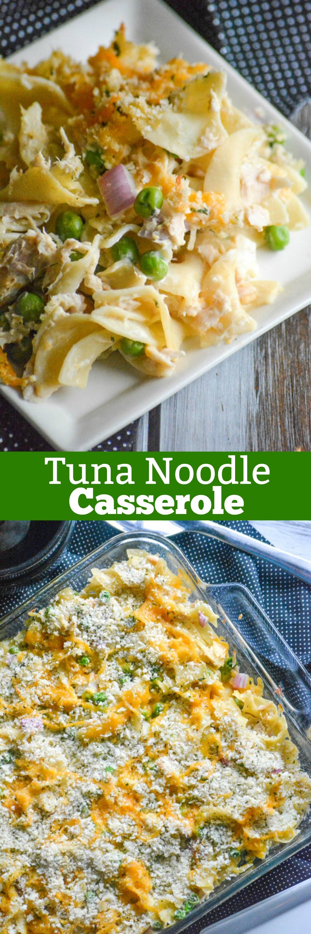 Sometimes I want a lightened up casserole, that's still hearty- which is where this Creamy Tuna Noodle Casserole comes in. Served hot or cold, it's an easy dinner the whole family looks forward to that can also serve a crowd.