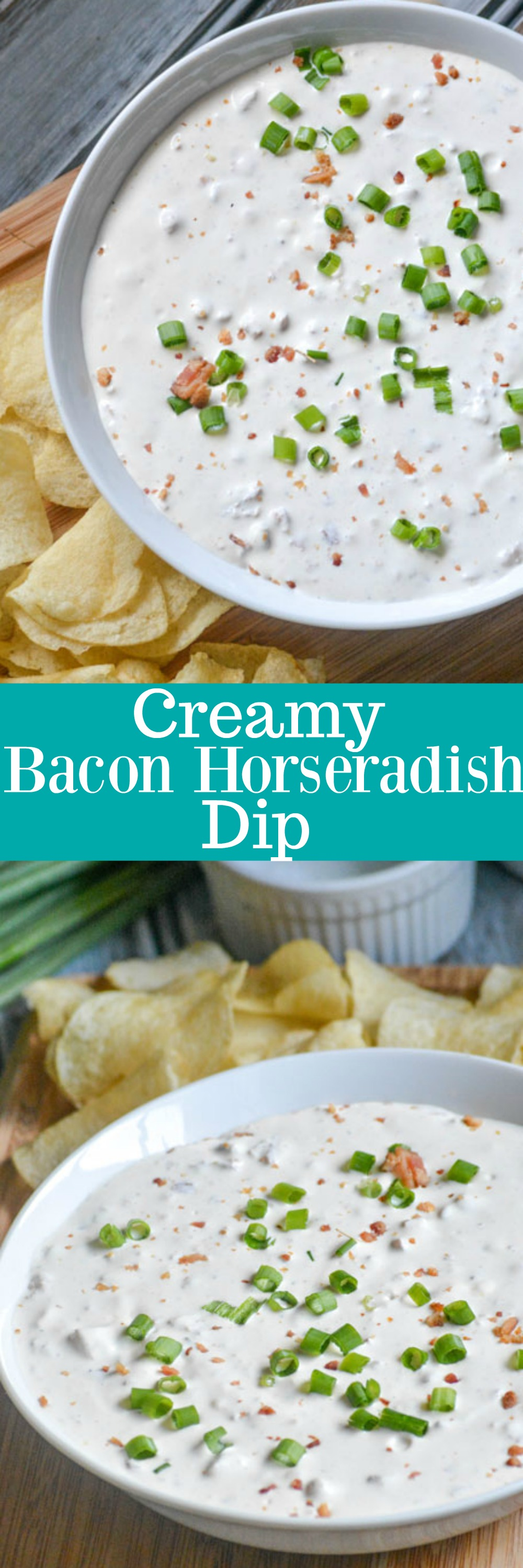 You can never go wrong having a savory dip on hand, or at least the easy ingredients to whip one up, even at the last minute. This Creamy Bacon Horseradish Dip is the perfect appetizer, and ice breaker, for any get together.