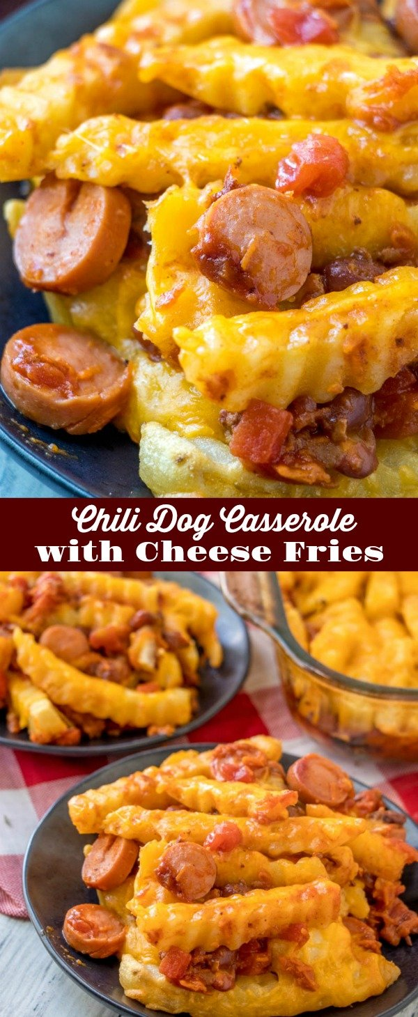 When life get's busy, we could all use a bit of easy, comfort food to pick us up. This Chili Dog Casserole with Cheese Fries dinner doesn't ever disappoint, whatever the day- or your schedule- may have in mind.