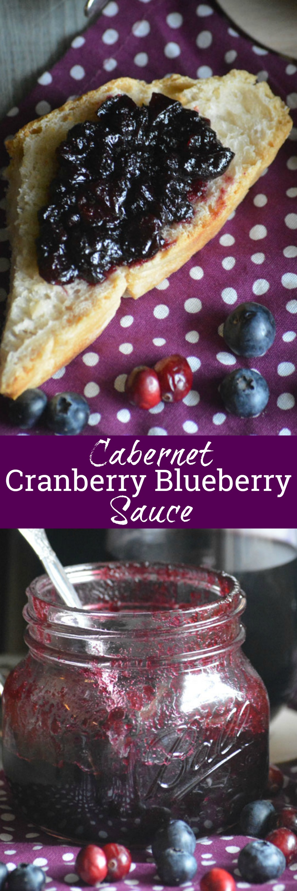 A thick sauce, somewhere in between jam & jelly, this Cabernet Cranberry and Blueberry Sauce is a delicious addition to your holiday meals. Keep any extras on hand to slather on bread or toast for a simple breakfast or snack that's bursting with fresh sweet berry flavor and a hint of wine.