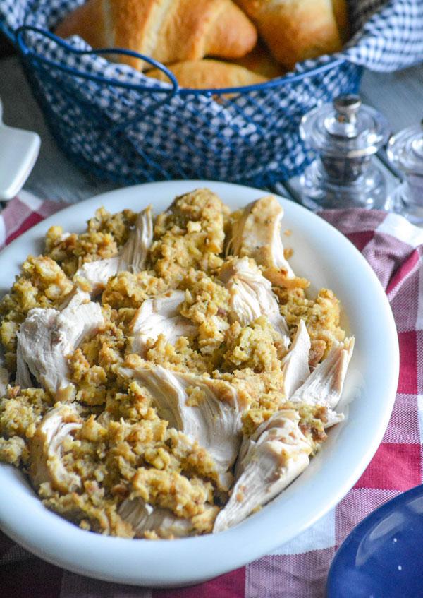Crockpot Chicken & Stuffing