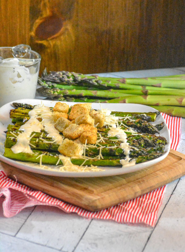 Grilled Caesar Asparagus