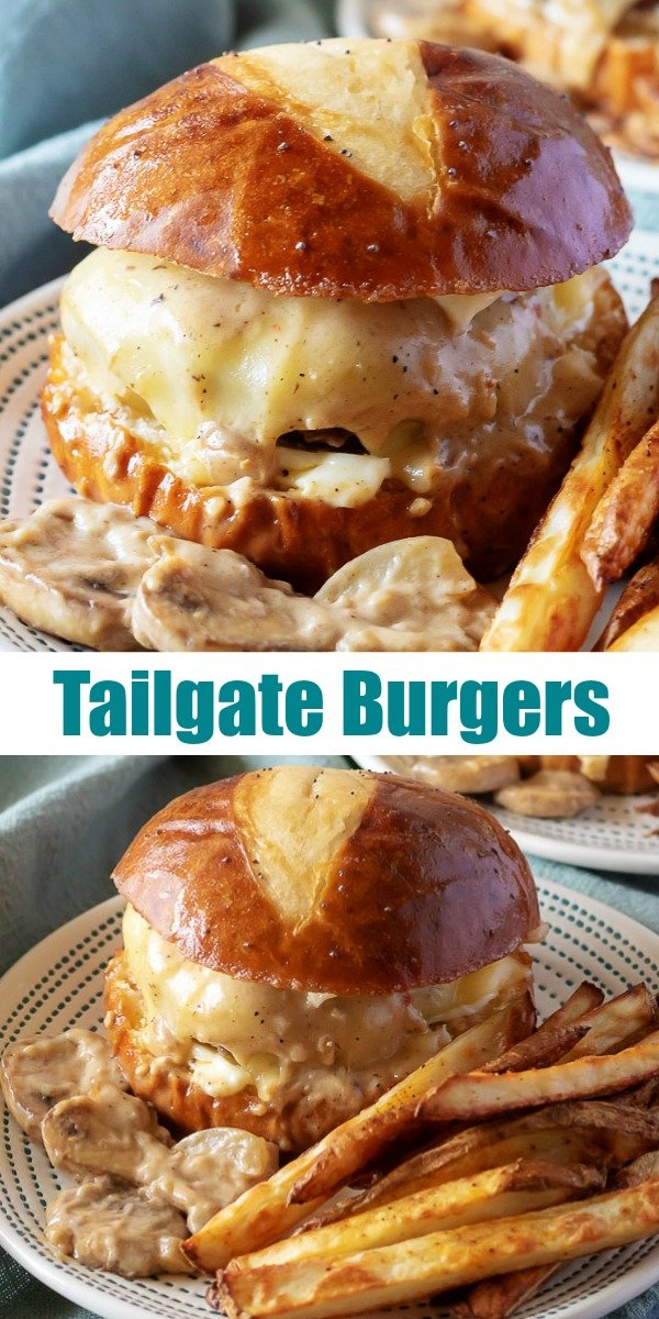 Get ready for game day with the best ever grilled burger recipe, these 'Knock Your Socks Off' Tailgate Burgers. Trust me, they're gonna completely bowl you over with how amazing they are- appetizer, lunch, dinner- they'll be the main event wherever they're served.