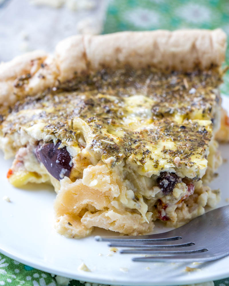 Quick & Easy Crusty Greek Quiche