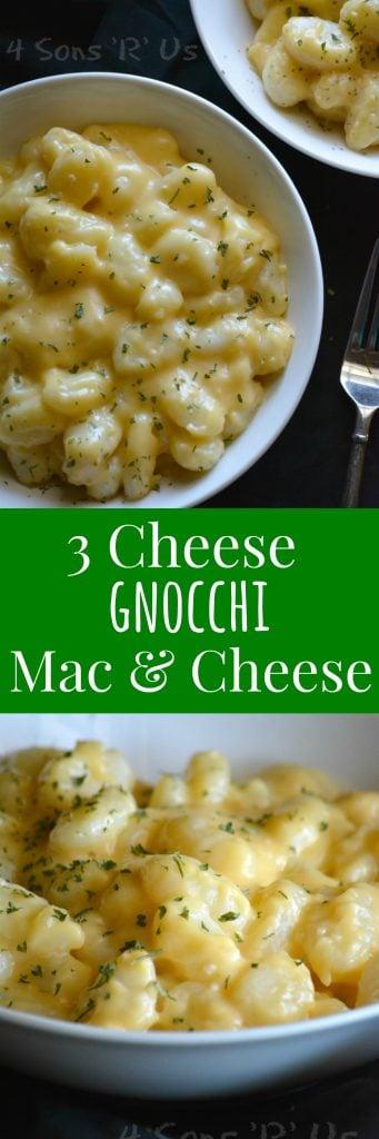 3 Cheese Gnocchi Mac & Cheese Collage