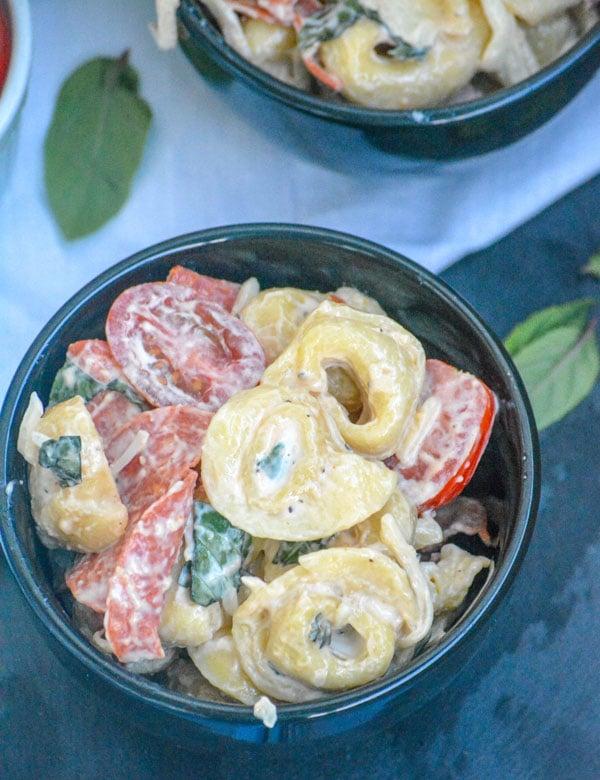 Pepperoni & Basil Tortellini Salad