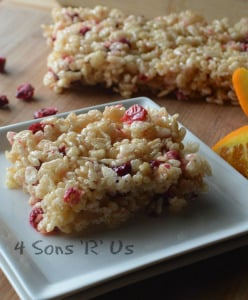 Cranberry Orange Rice Krispie Treats