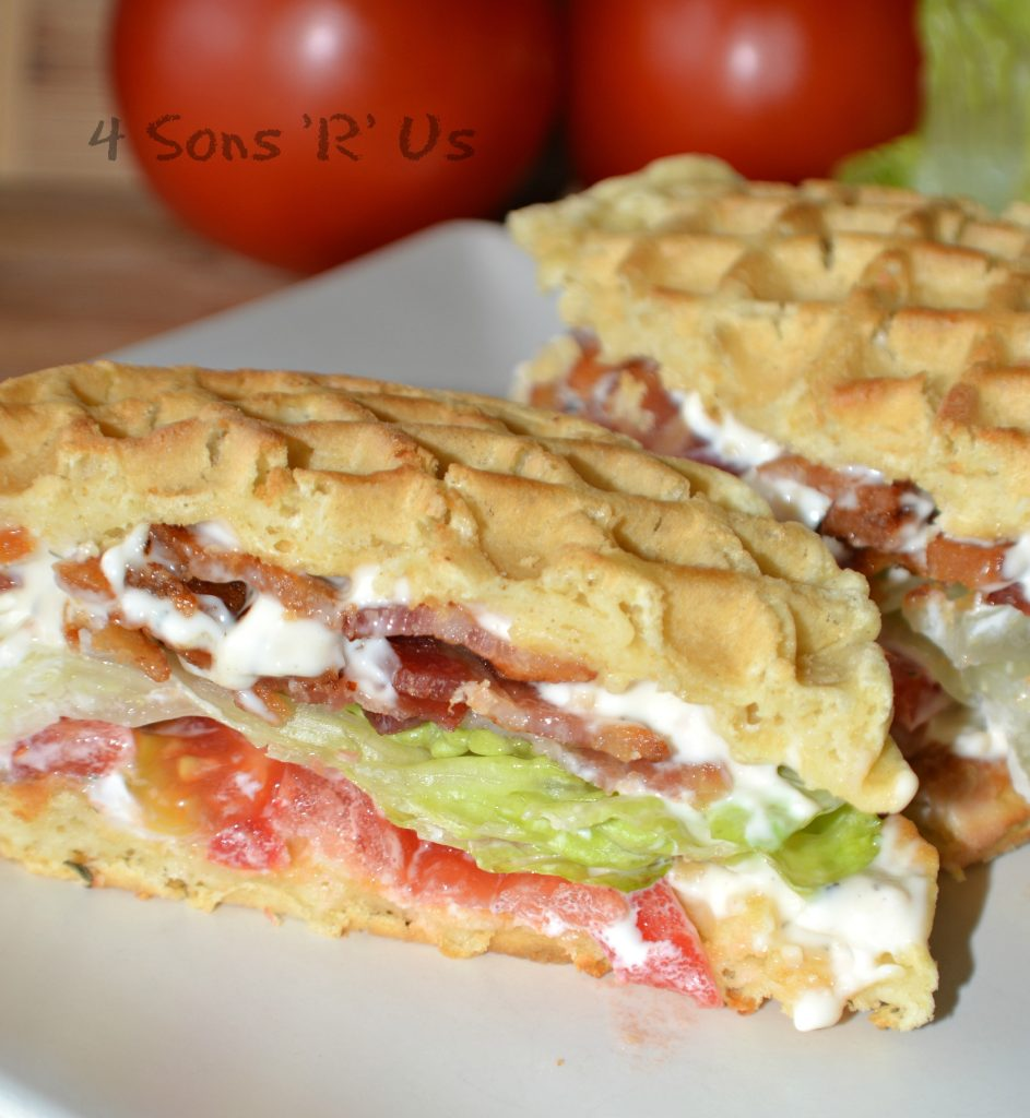 Bacon Lettuce Tomato Waffle Wiches 2