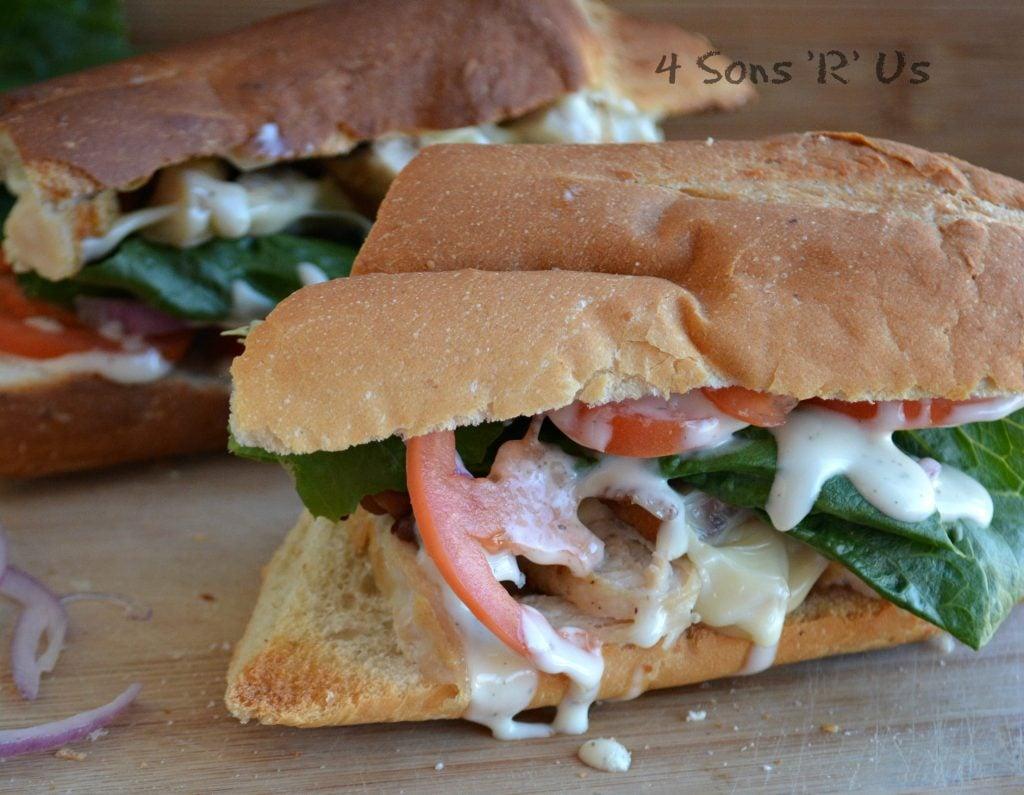 Chicken Bacon Ranch Sub Sandwich 3