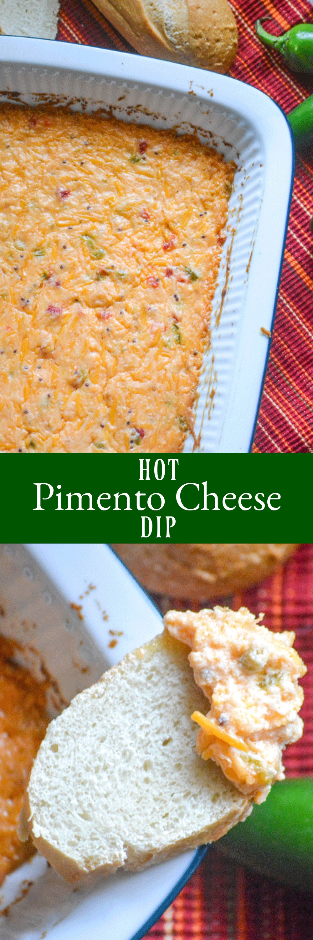 Quick & easy, this creamy Hot Pimento Cheese Dip is a must-have appetizer for Game Day. It's a savory snack, fit for feeding (and filling up) any crowd.