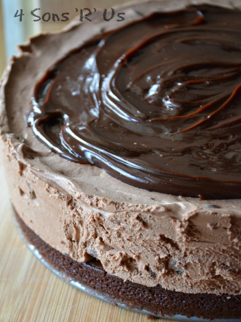 No Bake, Hot Fudge Chocolate Cheesecake