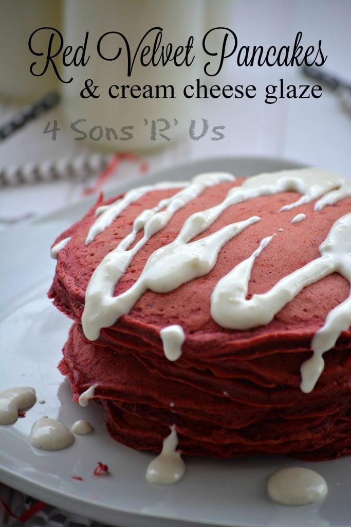 Red Velvet Cake Mix Into Pancakes