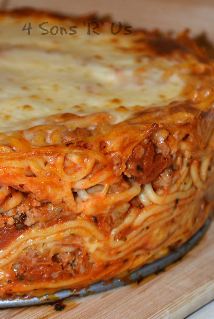 Baked Spaghetti Pie with Pepperoni