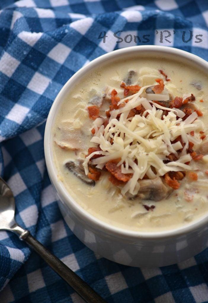 Mushroom & Swiss Potato Soup