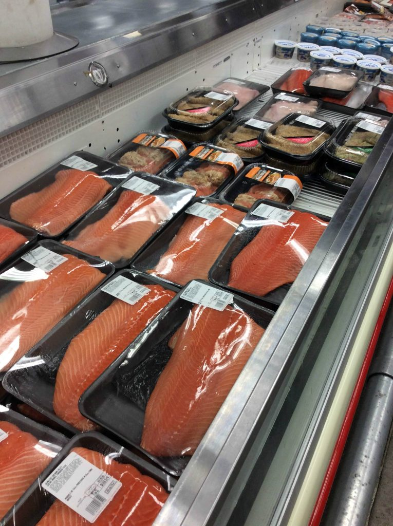 Sam's Club seafood aisle