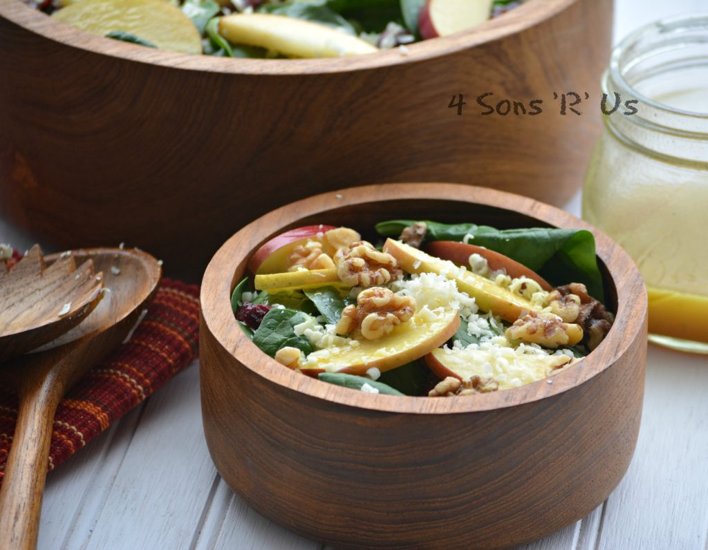 Spinach Salad with Apples, White Cheddar, Nuts & Berries with Honey Vinaigrette