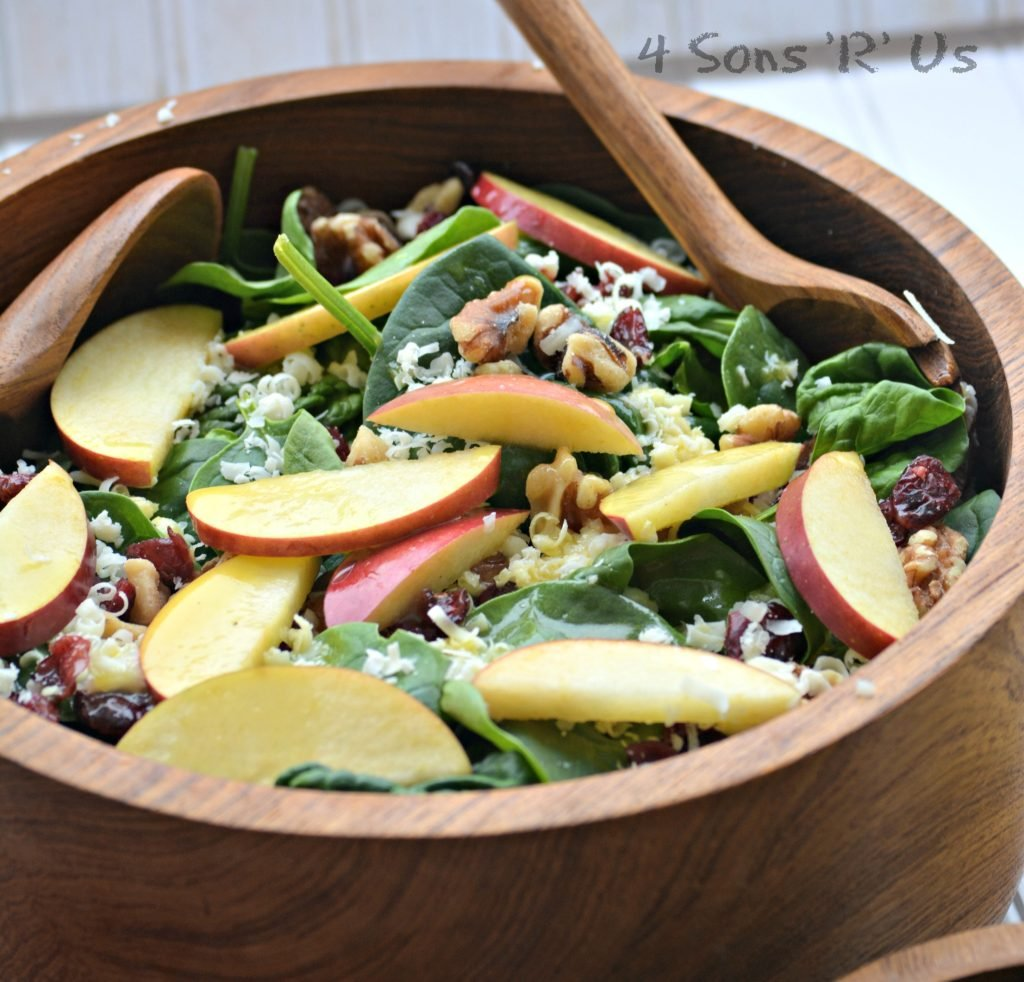 Spinach Salad with Apples, White Cheddar, Nuts & Berries with Honey Vinaigrette 4
