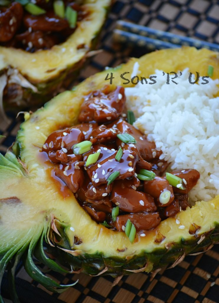 Chicken Teriyaki Pineapple Boats 2