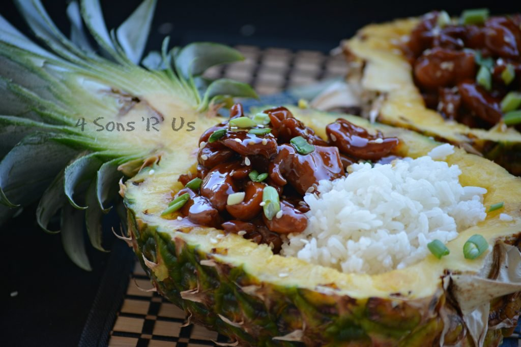 Chicken Teriyaki Pineapple Boats 4