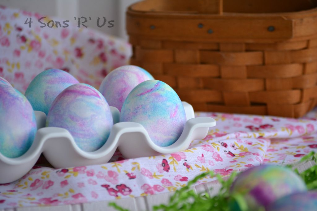 Shaving Cream Colored Easter Eggs 2