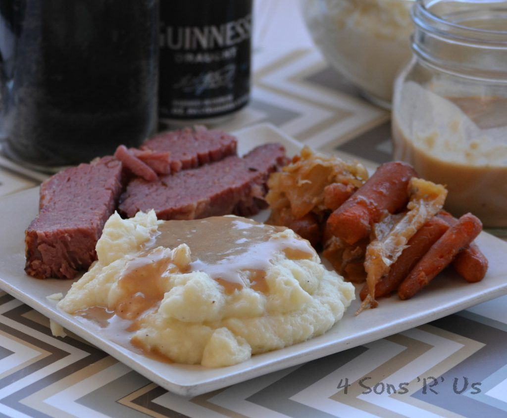 Whipped Mashed Potatoes with Dijon Stout Gravy