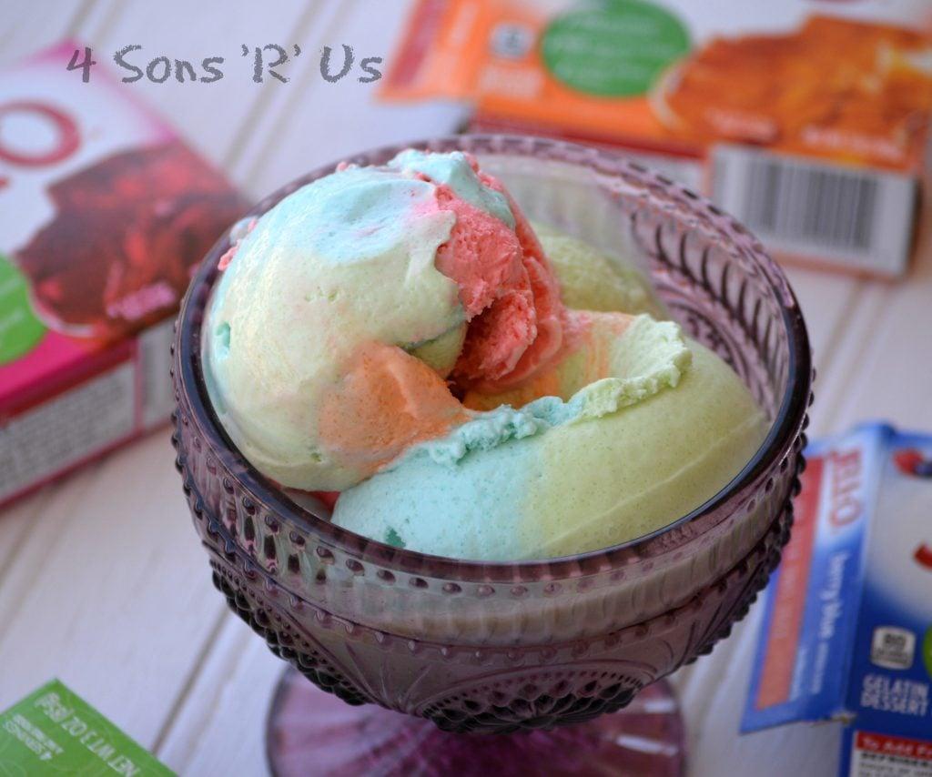 Jello Rainbow Sherbet Ice Cream