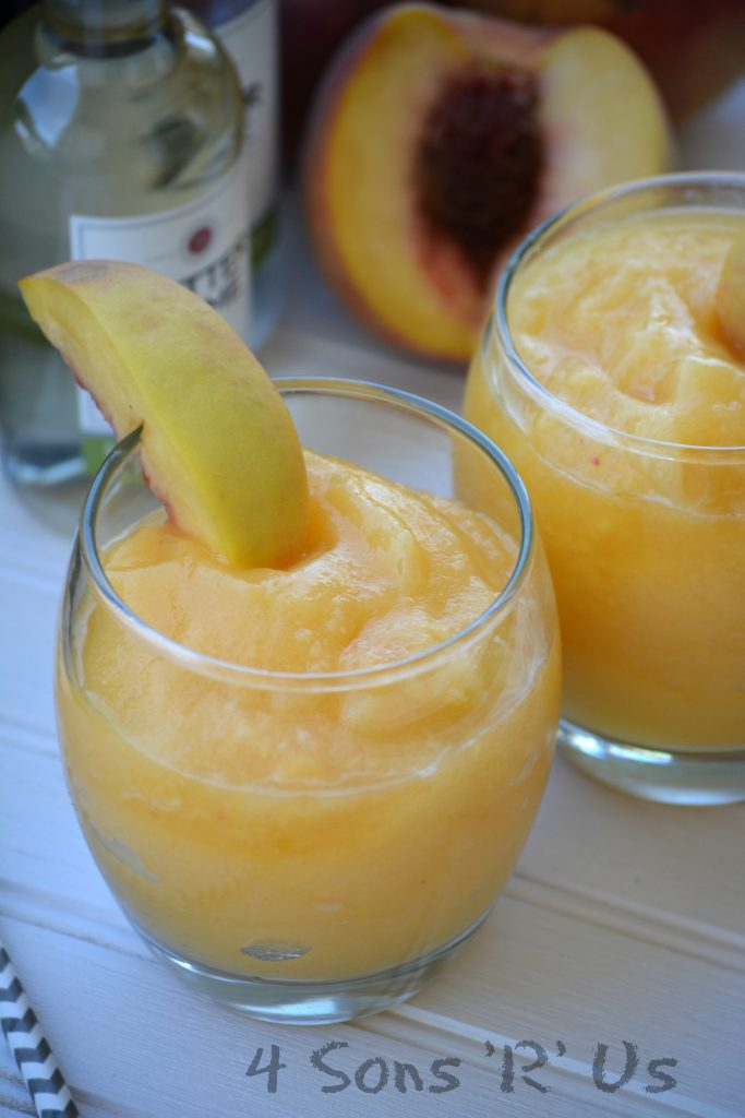 Peach White Wine Slushies 3