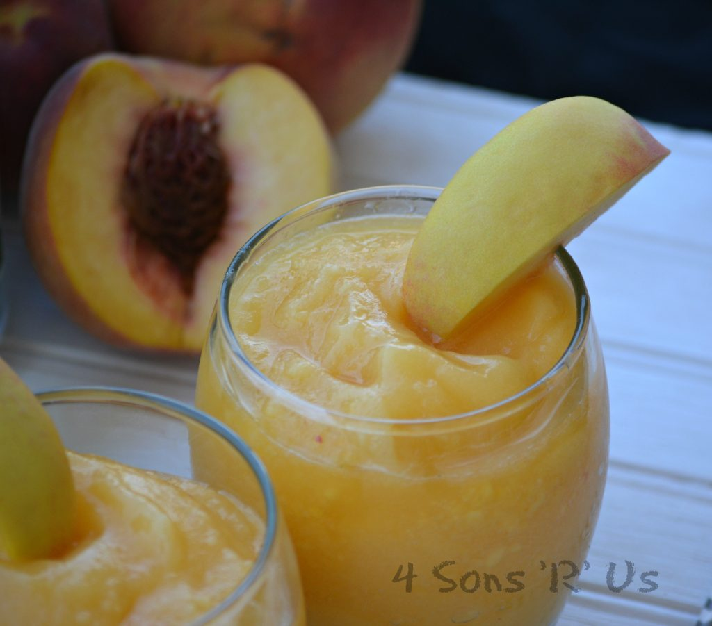 Peach White Wine Slushies 4