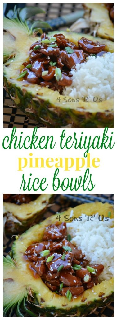Chicken Teriyaki Pineapple Rice Bowls