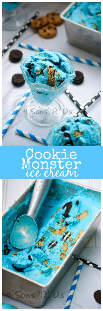 Cookie Monster Ice Cream Collage