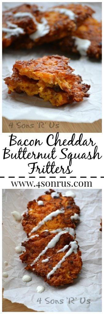 Bacon Cheddar Butternut Squash Fritters