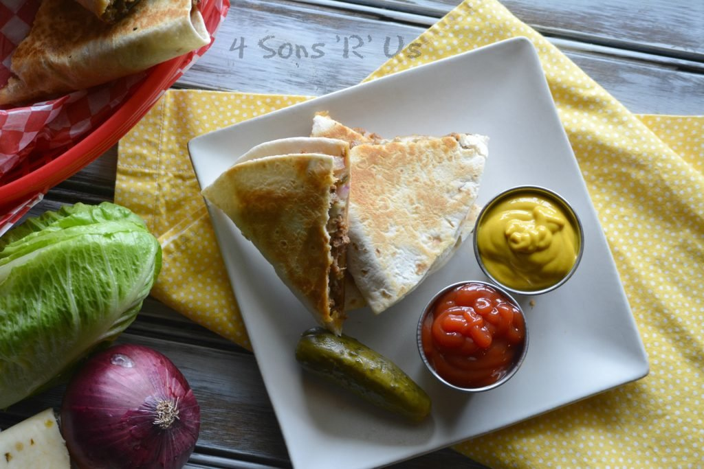 Cheeseburger Quesadillas 2