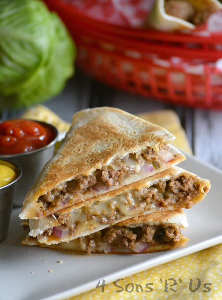 Cheeseburger Quesadillas 3