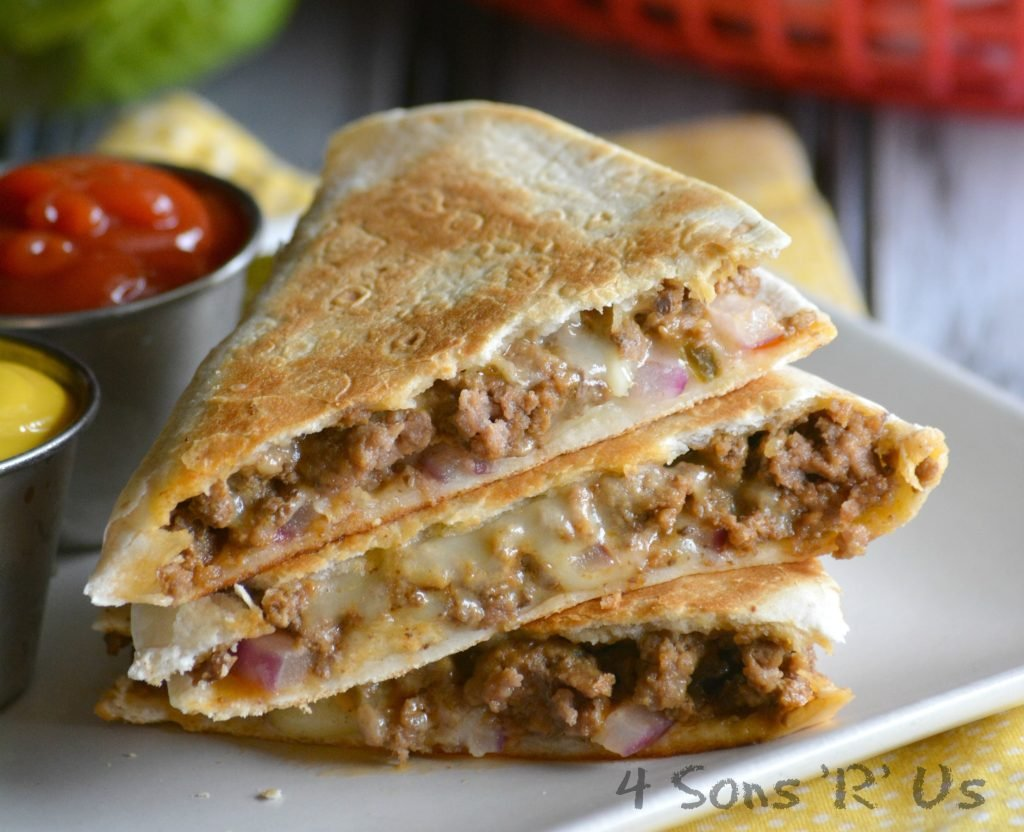 Cheeseburger Quesadillas 4