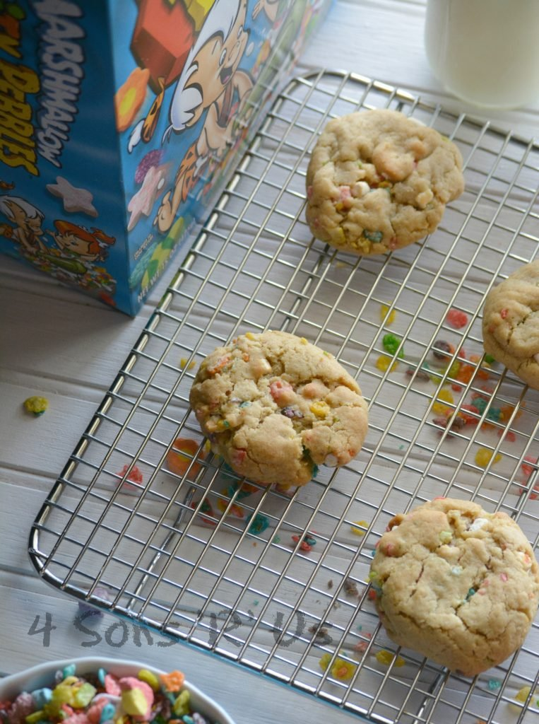 Marshmallow Fruity Pebble Crunch Brown Butter Cookies 5