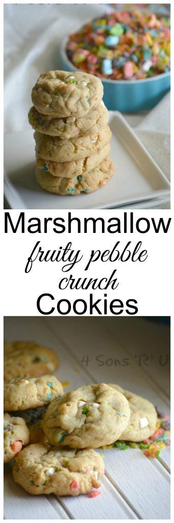 Marshmallow Fruity Pebble Crunch Cookies