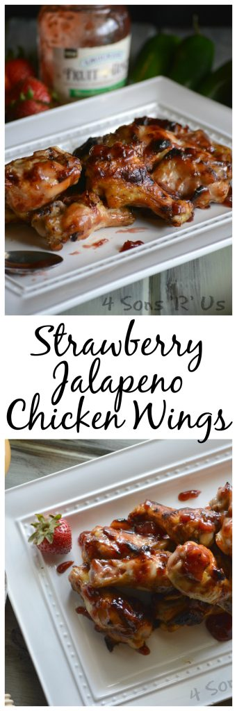 Strawberry Jalapeno Chicken Wings Collage