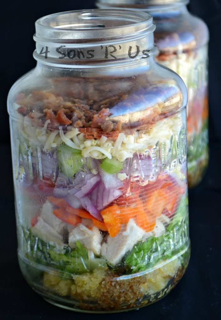 The Ultimate Layered Mason Jar Salad