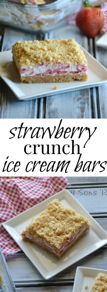 strawberry crunch bars collage