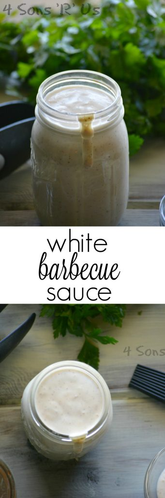 white barbecue sauce collage