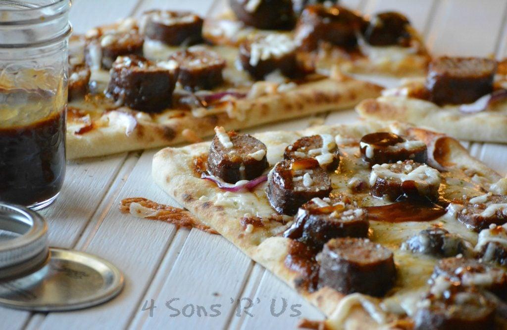 Barbecue Sausage Flatbread Pizza