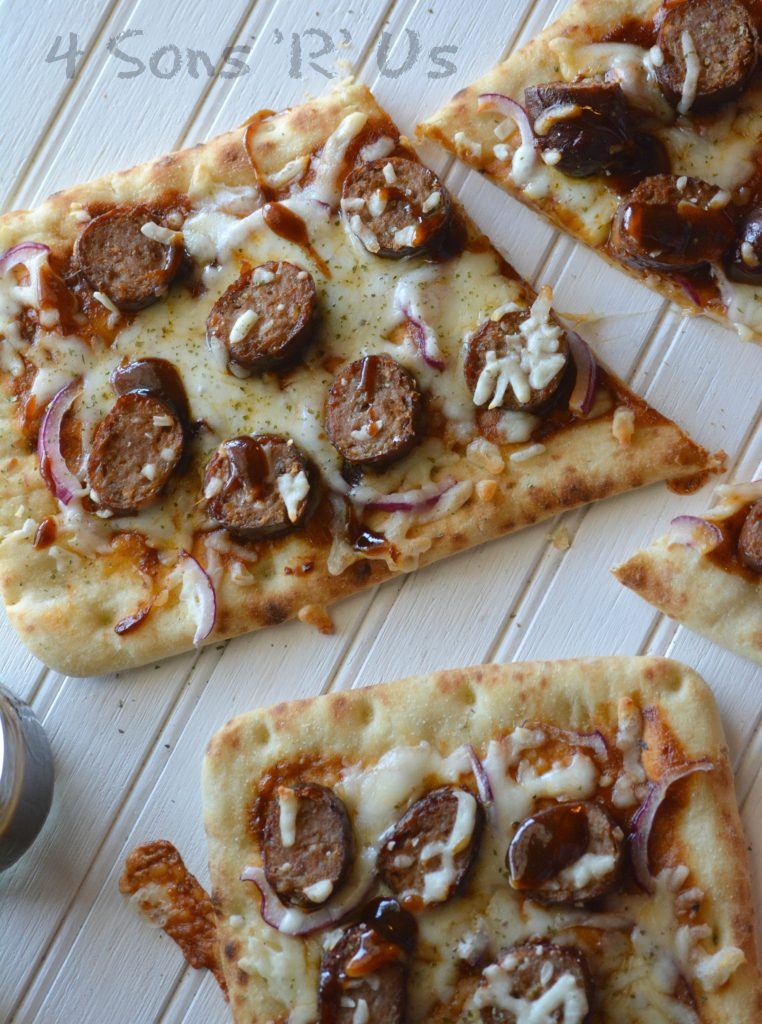 Barbecue Sausage Flatbread Pizza 4