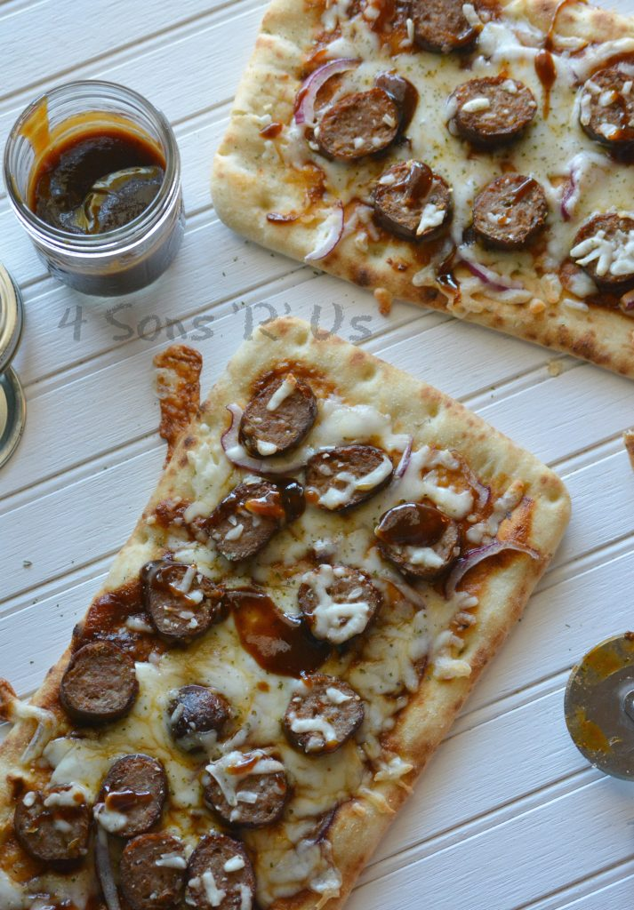 Barbecue Sausage Flatbread Pizzas 2