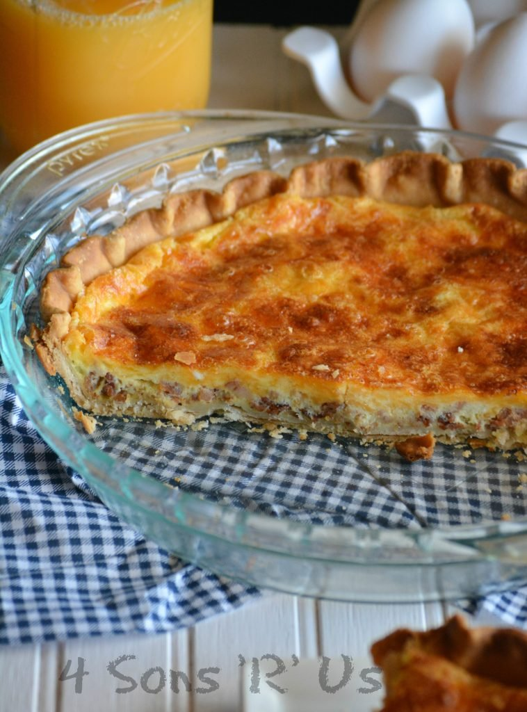 Cheddar, Bacon, Ranch Quiche 3